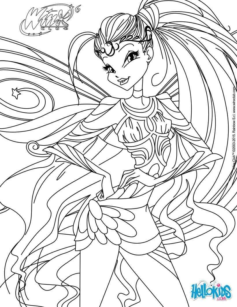 Winx Club Coloring Pages Stella Transformation Bloomix Cartoon Coloring Pages Coloring Pages Fairy Coloring