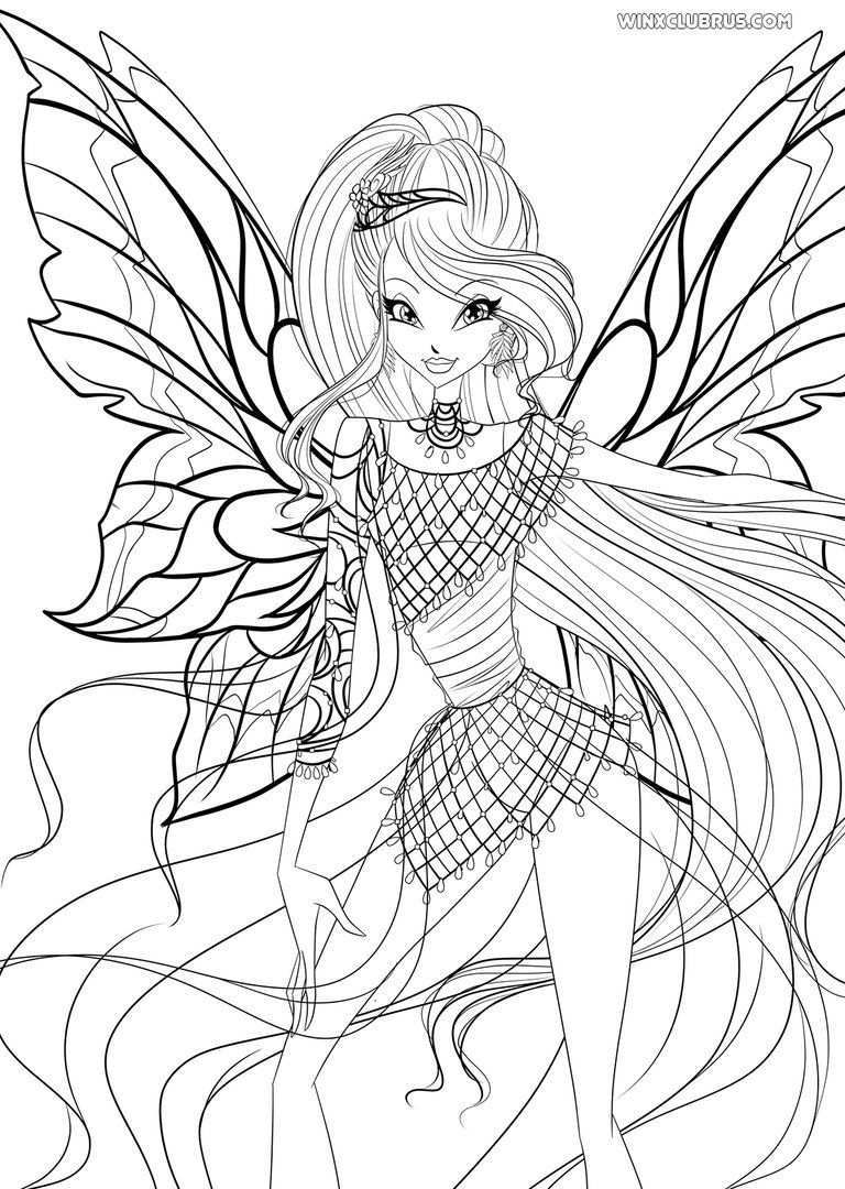 Pin By Tessa Whatever On World Of Winx Fairy Coloring Pages My Little Pony Movie Art Drawings Sketches Simple