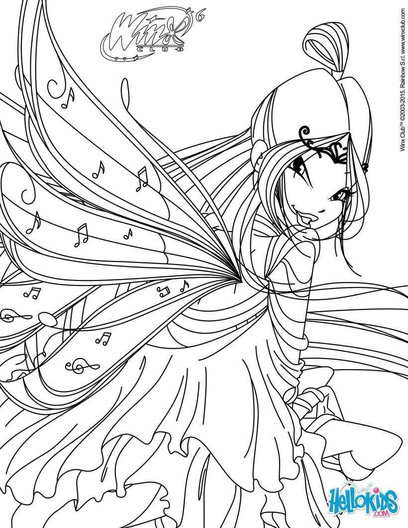 Winx Club Coloring Pages Musa Transformation Bloomix Fairy Coloring Pages Cartoon Coloring Pages Coloring Pages