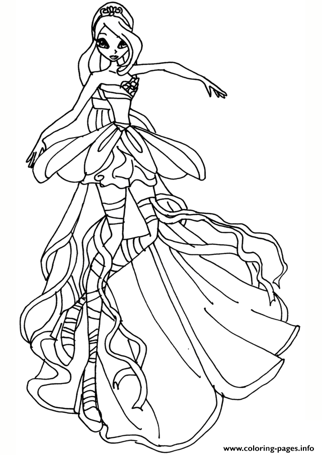 Print Bloom Harmonix Winx Club Coloring Pages Princess Coloring Pages Mermaid Coloring Pages Princess Coloring