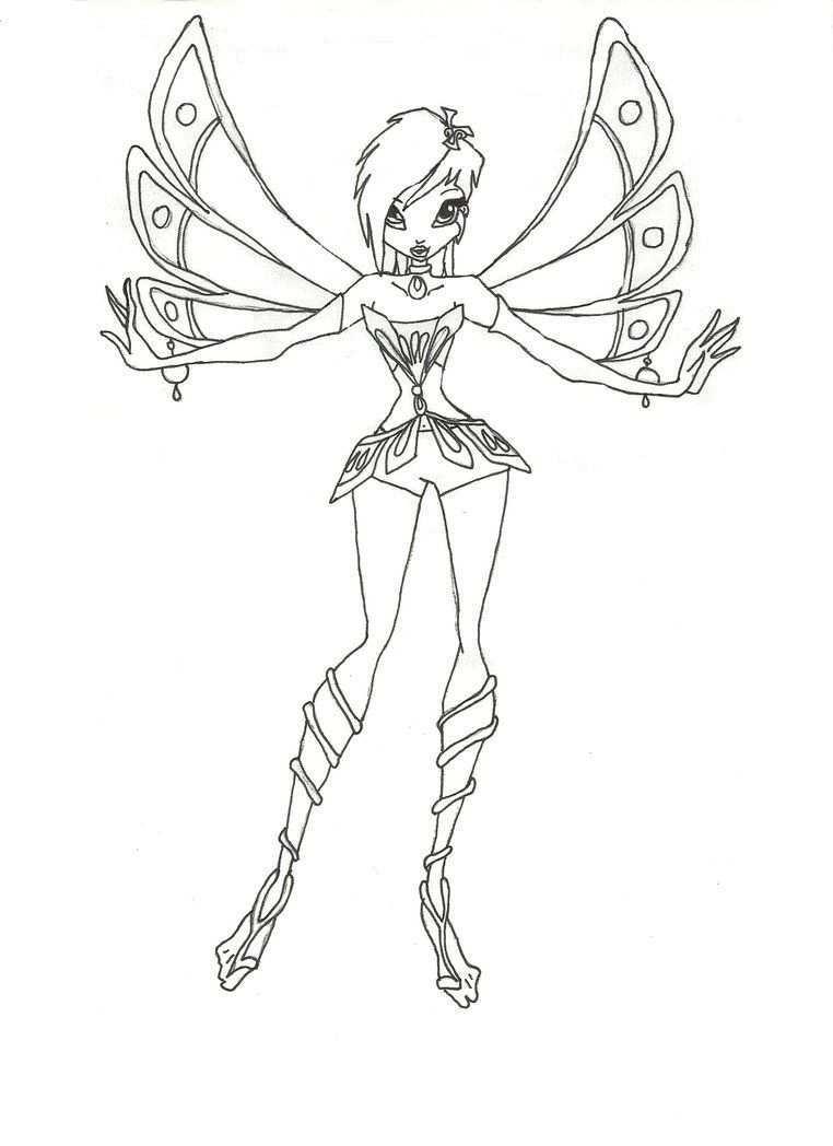 Winx Enchantix Tecna Coloring Page By Timefairy237 On Deviantart Cartoon Coloring Pages Coloring Pages Fairy Coloring