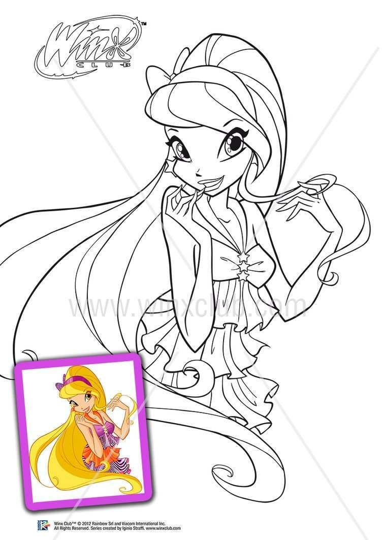 Stella 5 Season By Lorelai19 Coloring Pages Cartoon Coloring Pages Winx Club