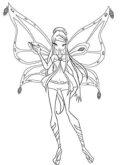 Winx Club Roxy Was Waving Hands Coloring Pages Mermaid Coloring Pages Cartoon Coloring Pages Coloring Pages