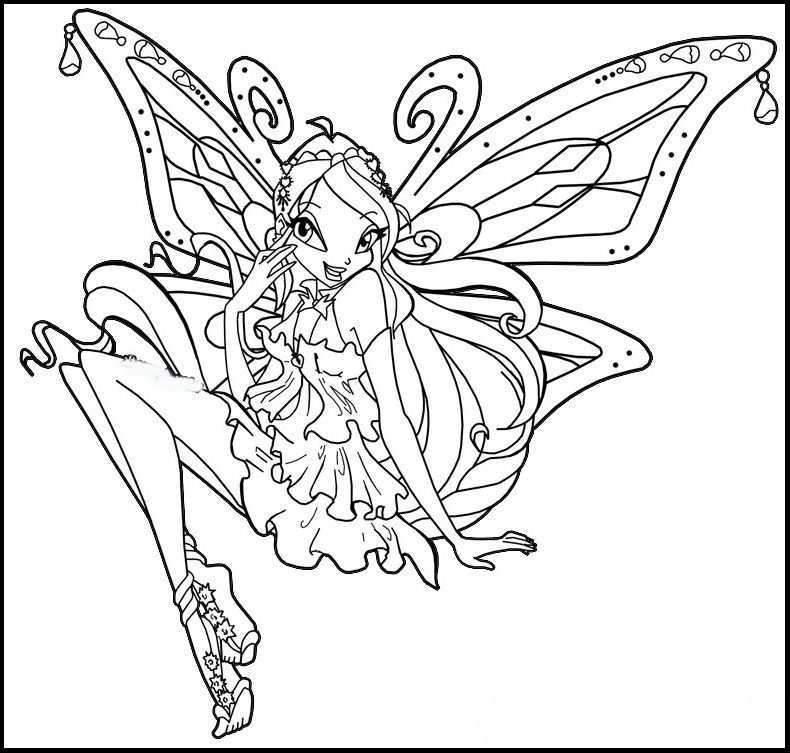 Winx Club Enchantix Coloring Pages For Kids Gtw Printable Winx Club Coloring Pages For Kids Super Coloring Pages Coloring Pages Bloom Winx Club