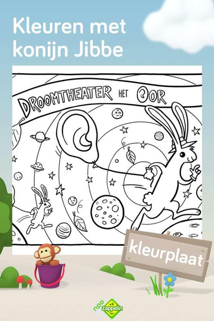 Kleurplaat Konijn Jibbe Van Droomtheater Het Oor Kleurplaten Konijn Kleurplaten Voor Kinderen