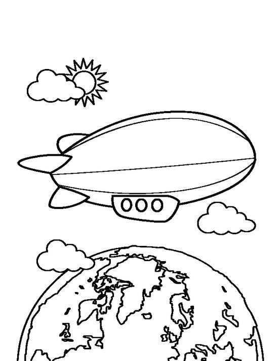 Zeppelin Te Printen Via Www Kleurenisleuk Nl Kleurplaten Tekenen Vliegers
