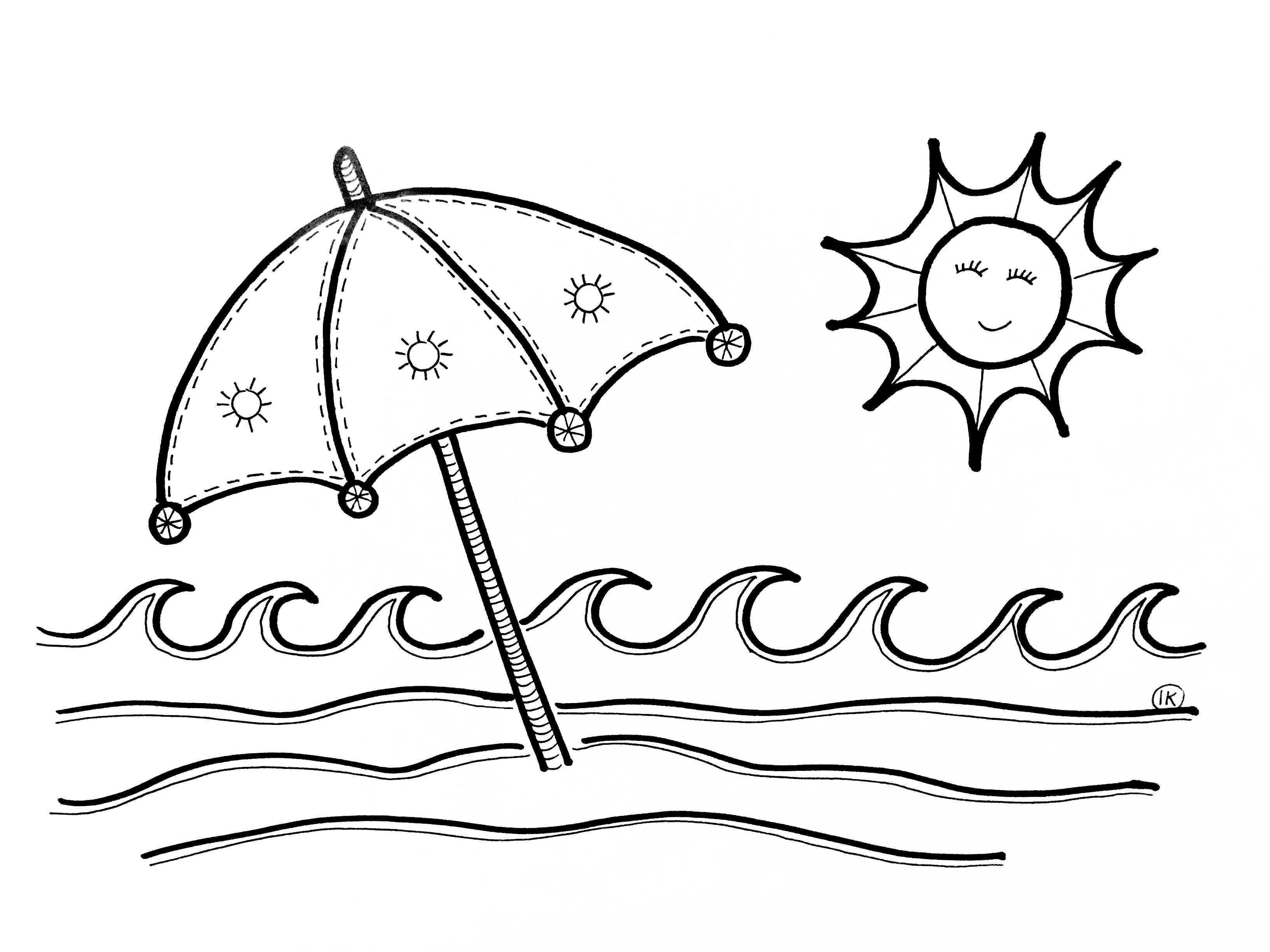 Zomerse Kleurplaten Zon Zee En Strand Kleurplaat Zomer Strand Kleurplaten Zand En Water Zomer Kleurplaten Kleurplaten Kunstwerkjes