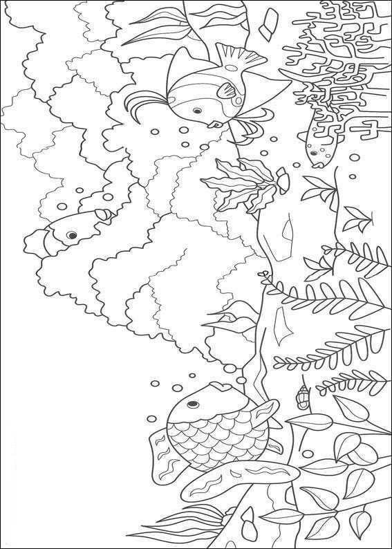 Pin Van Gloria Byerley Op Kleurplaten Coloring Pages The Rainbow Fish Kinderkleurplaten Kleurplaten