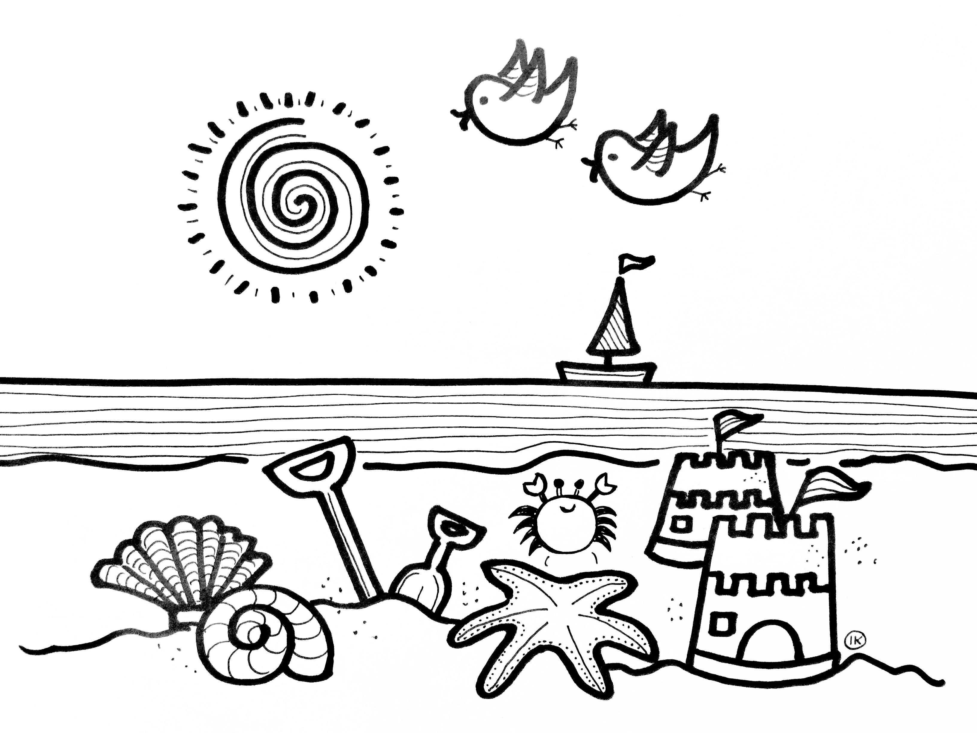 Zomerse Kleurplaten Zon Zee En Strand Kleurplaat Zomer Strand Kleurplaten Zand En Water Zomer Kleurplaten Kleurplaten Kleurplaten Voor Kinderen