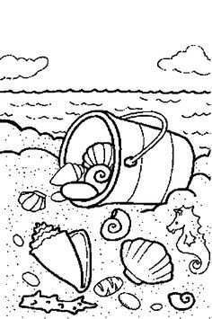 Afbeeldingsresultaat Voor Kleurplaten Zee Strand Schepen Zomer Kleurplaten Dieren Kleurplaten Gratis Kleurplaten