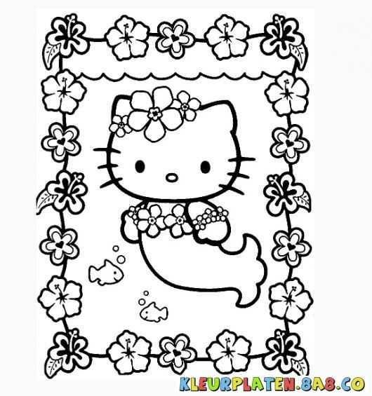 Kleurplaten Hello Kitty Zeemeermin Kleurplaten Hello Kitty Afbeeldingen Kleurplaten Hello Kitty
