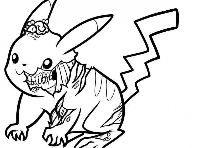 Pikachu Coloring Pages Pikachu Coloring Pages 18 Pictures Colorine 4715 Creepy Drawings Zombie Drawings Cool Easy Drawings