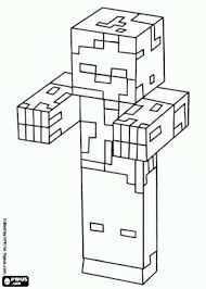 Minecraft Zombie Knutselen Google Zoeken Zombie Knutselen Minecraft Kleurplaten