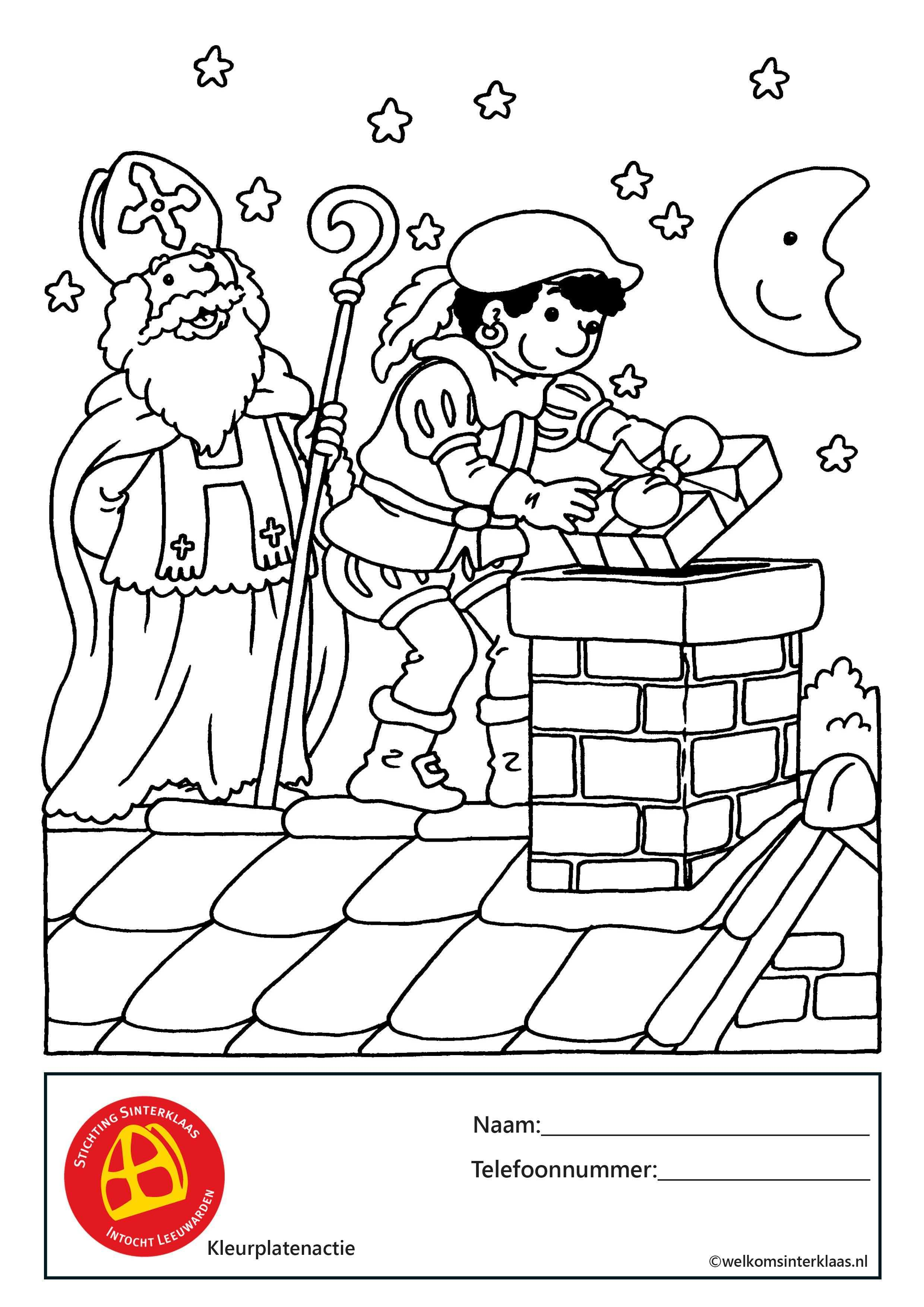 Sint En Piet Brengen Pakjes Zwarte Piet Sinterklaas Kleurplaten